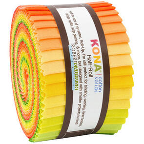 Robert Kaufman  Half Rolls: Kona Cotton - Citrus Fruit Palette