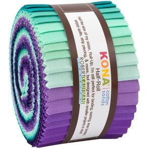 Robert Kaufman  Half Rolls: Kona Cotton - Aurora Palette