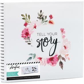 "Heidi Swapp  Storyline2 Scrapbook Album 12""X12"" - White Floral"