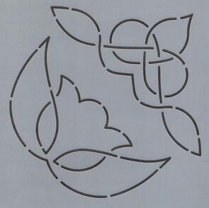 The Stencil Company Quilting Stencil - Tulip/Norse Triangle 6.5''