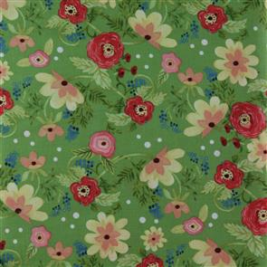 In the Beginning Fabrics  - Ranunculus Floral Green