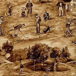 Blank Quilting  Golf Club - On the Course Sepia