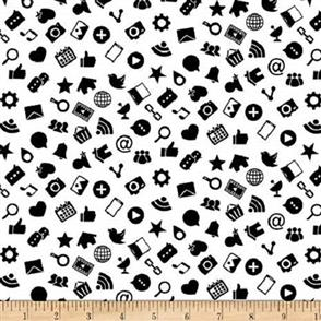 Blank Quilting  Domino Effect - Icon White