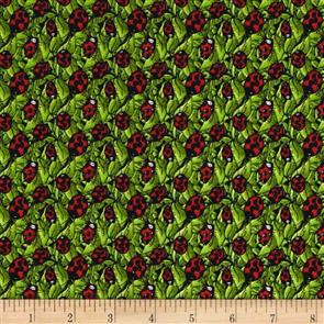Blank Quilting  Garden Glory - Ladybugs Green