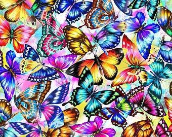 Oasis Fabric Fantasy II 59-844 -  - Butterflies, multi-coloured