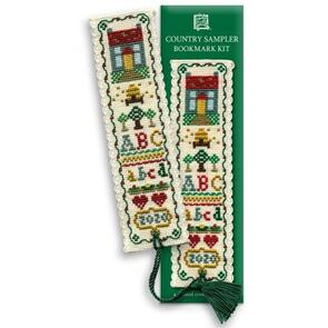 Textile Heritage  Bookmark Cross Stitch Kit - Country Sampler