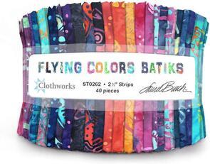 Clothworks  Flying Colours Batiks
