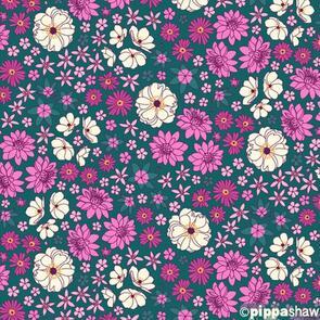 Figo Fabrics - Fabric - Primavera by Pippa Shaw - Blue - 93017-68