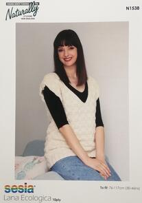 Naturally N1538 Textured Vest Knitting Pattern