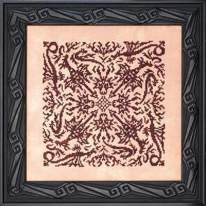 Ink Circles Cross Stitch Chart - Elemental Dragons: Fire