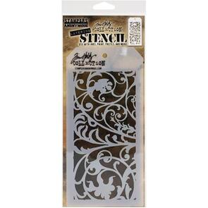 "Stampers Anonymous Tim Holtz Layered Stencil 4.125""X8.5"" - Ironwork -Layered"