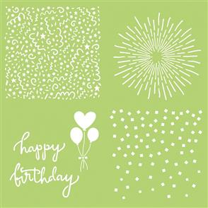 "Kaisercraft  Designer Template 12""X12"" - Celebrate"