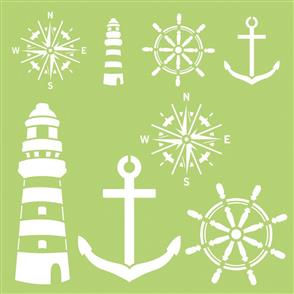 "Kaisercraft Designer Template 12""X12"" - Nautical Elements"