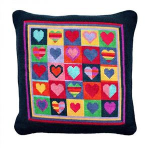 Jolly Red Tapestry Kit - Jolly Hearts