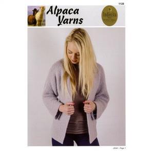 Alpaca Yarns 1128 Cosy Cardigan - Knitting Pattern