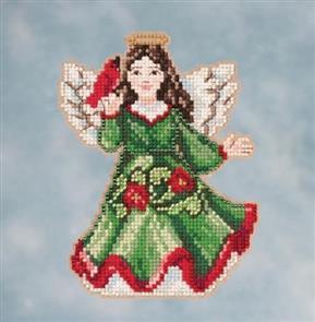 Mill Hill Jim Shore Bead & Cross Stitch Kit: Angel with Cardinal