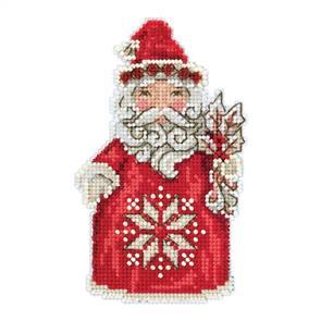 Mill Hill  Jim Shore Bead & Cross Stitch Kit: Nordic Santa