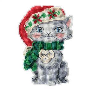 Mill Hill Jim Shore Bead & Cross Stitch Kit: Kitty
