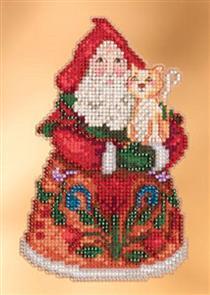 Mill Hill  Jim Shore Bead & Cross Stitch Kit: Purrfect Christmas Santa