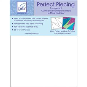 "Karen Kay Buckley  Perfect Piecing Quilt Block Foundation Sheets 8.5""X11"" 25/Pkg"