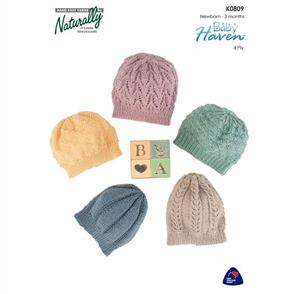 Naturally  K0809 - Baby's Hats - Knitting Pattern