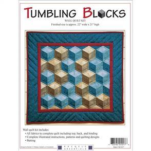 "MISC  Rachel's Of Greenfield Wall Quilt Kit 22""X21"" - Tumbling Blocks"
