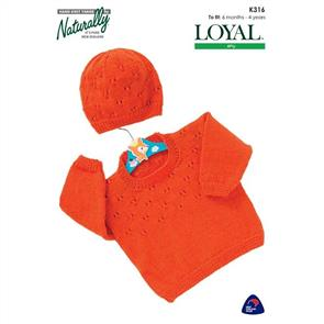 Naturally K316 Sweater and Hat
