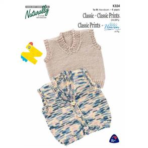 Naturally K324 Pullover or Buttoned Vest