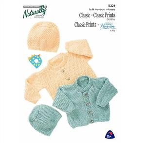 Naturally K326 Cardigan and Hat