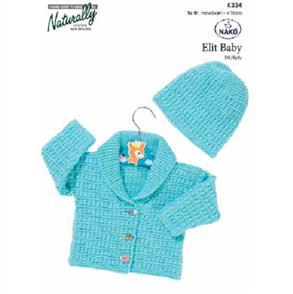 Naturally K334 - Jacket and Hat - Knitting Pattern