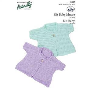 Naturally K339 One Button Vest - Knitting Pattern