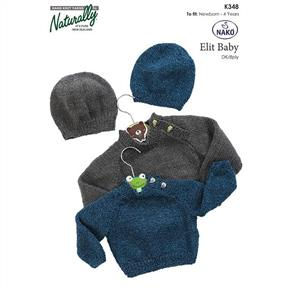 Naturally K348 Raglan Sweater & Hat