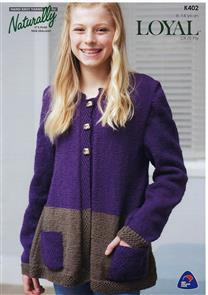 Naturally K402 - Sweater with Pockets - Knitting Pattern