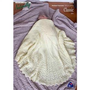 Naturally K410 - Circular Baby Shawl - Knitting Pattern