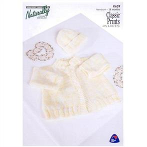 Naturally K639 - Jacket and Hat - Knitting Pattern