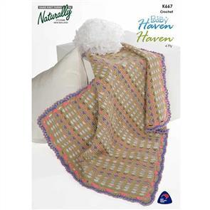 Naturally K667 Crochet Baby Blanket