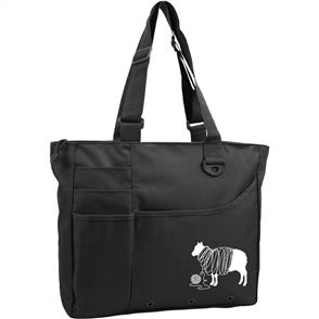 "Knit Happy  Unwound Sheep Bright Bag - 15""X13""X4"" - Black"