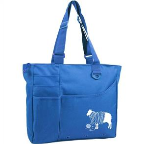 "Knit Happy  Unwound Sheep Bright Bag - 15""X13""X4"""