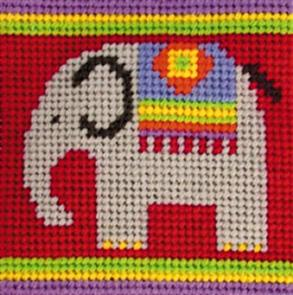 Jolly Red Kids Tapestry Kit - Elephant