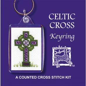 Textile Heritage  Cross Stitch Kit Key Ring - Celtic Cross