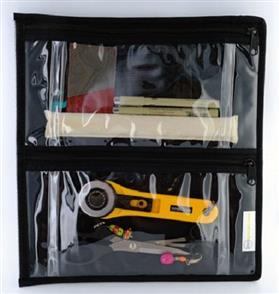 Sue Spargo  Storage - Clear Four Pocket/Zipper