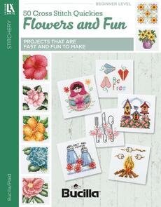Leisure Arts  50 Cross Stitches Quickies Flowers & Fun