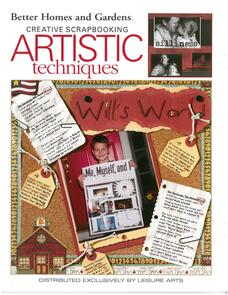 Leisure Arts  Better Homes and Gardens - Scrapbooking Artistic Techniques