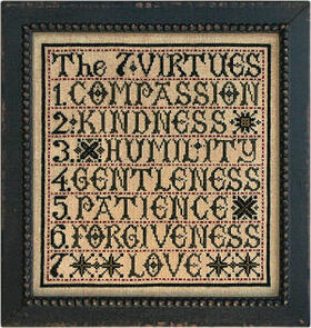 La-D-Da Cross Stitch Chart - The 7 Virtues