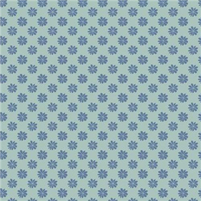 Liberty  Fabric - Floral Dot Blue