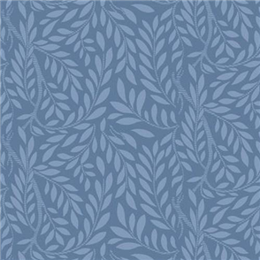 Liberty  Fabric - Leaf Trail Blue