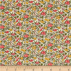 Liberty  Fabric - Forget Me Not Dark Pink