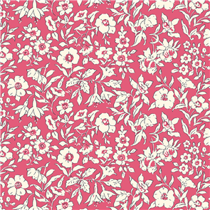 Liberty  Fabric - Morning Dew Dark Pink