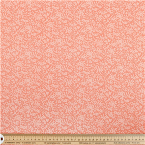 Liberty  Fabric - Daisy Shadow Coral