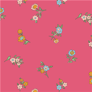 Liberty  Fabric - Little Vine Dark Pink